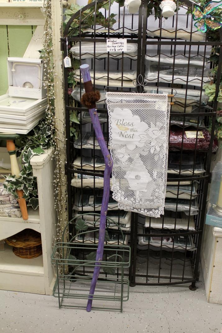 Amazon Dream in Violet Shabby chic, farmed peruvian lama fir at hand brace